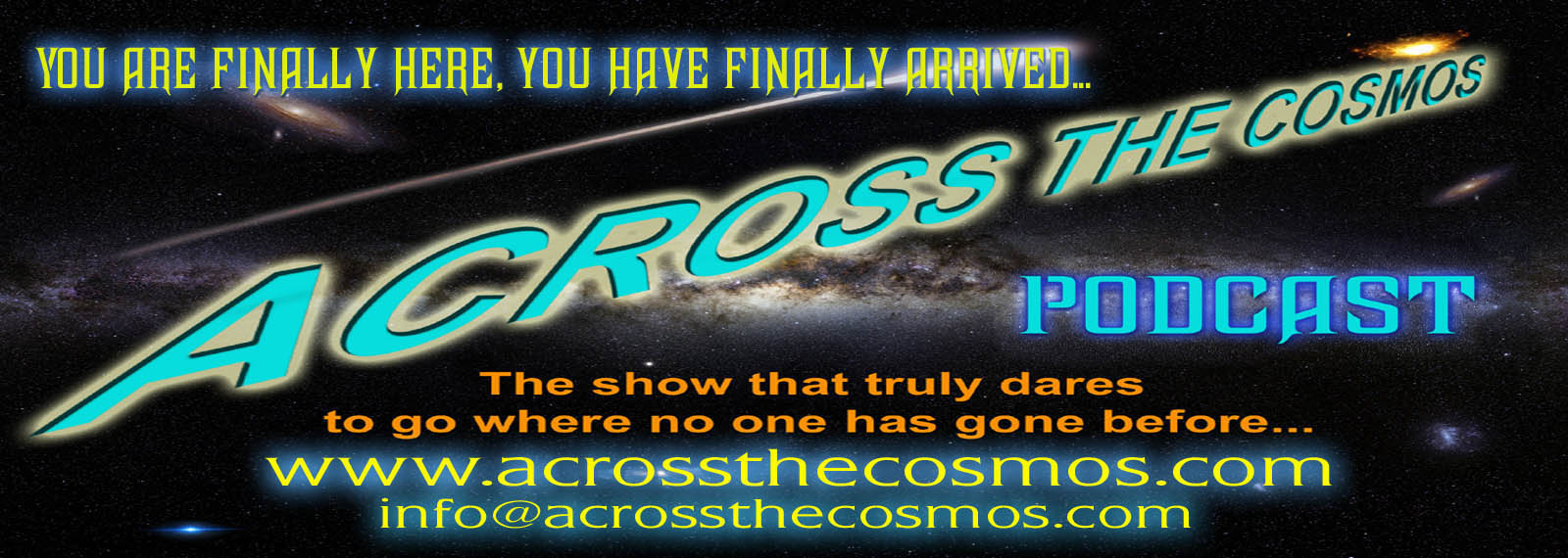 Across The Cosmos Ad Banner.